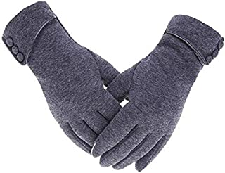 winter gloves for women support touch screen for driving
