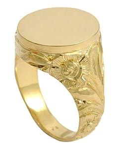 precious lane - Herrenring 585 Gold
