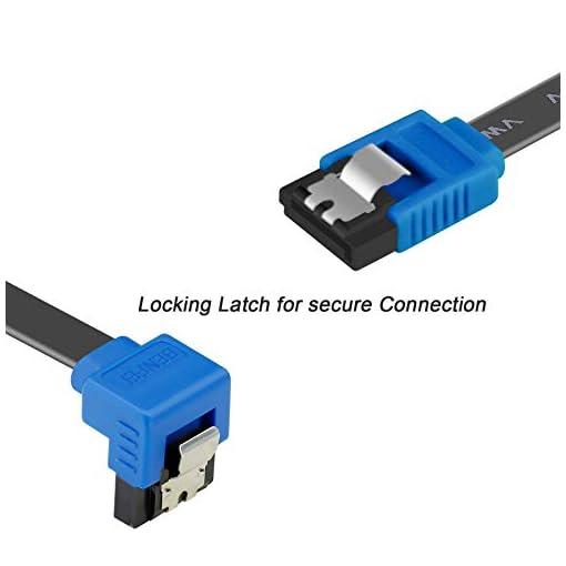BENFEI Cable SATA III,3 Unidades, 6 Gbps, ángulo Recto de 90 Grados, con Cierre de Cierre, 45,72 cm, para Disco Duro… 3