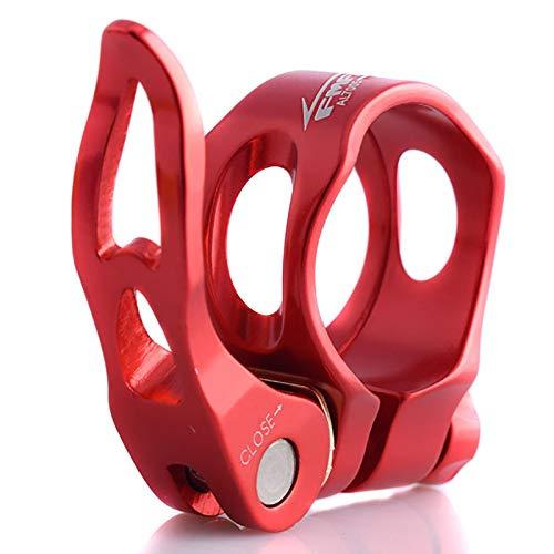 Sattelstützen-Schnellspannhebel, Rennrad-Sattelrohrklemme, fixierte Sitzstütze, Schnellclip-Schnalle, rot