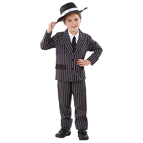 Fun Shack Negro Gánster Disfraz para Niños - M