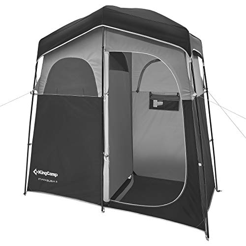 KingCamp Shower Shelter Giant Portable Outdoor Pop Up Camping Tent Enclosure Changing Room 2 Rooms...