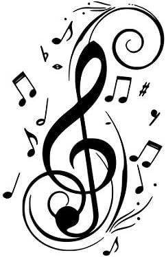 Amazon.com: Treble clef music notes Vinyl Decal Sticker (BLACK) :  Electronics