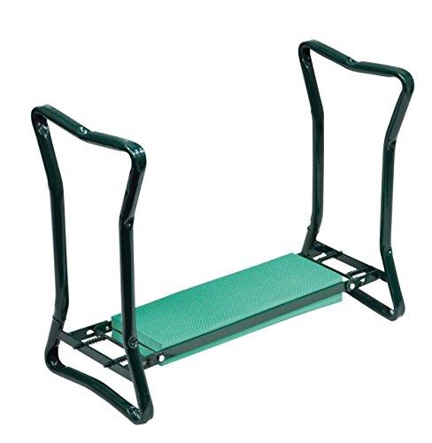 Repose-genoux de jardin pliante et banc