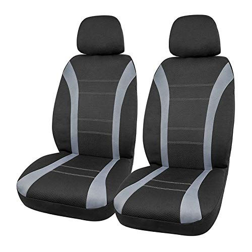 PIC AUTO Waterproof Universal Wetsuit Neoprene Car Seat Covers, Low Back with Airbag Compatible for Cars SUVs Vans Trucks (4 Pieces, Gray)