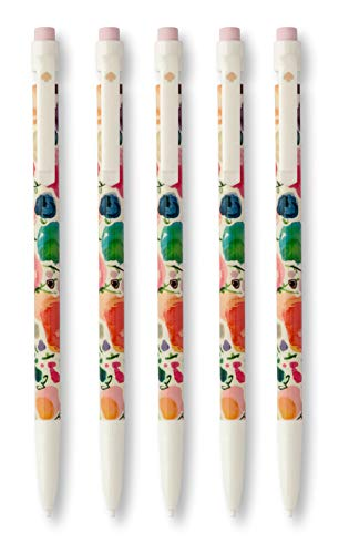 Kate Spade New York Mechanical Pencil Set of 5, Holds 7mm Lead, Floral