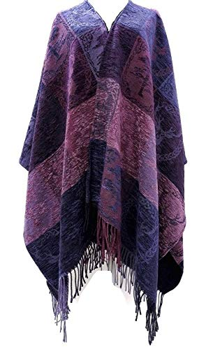 """Calzeat Celtic Stag & Pine Highland Ruana Wool & Chenille 59"""" x 78 ¾"""" Made in Scotland …"""