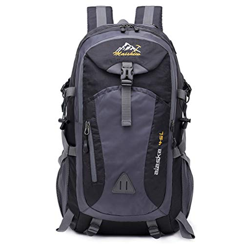 Lightweight Packable Travel Hiking Backpack Daypack 40L, Laptop 15.6 Inch Men Unisex Outdoor Pack Cycling Fishing Hiking Climbing Camping Sport Bag Pack,Black