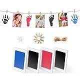 Norjews Baby Handabdruck und Fußabdruck Set in 3 Farben, Baby Abdruck mit 4 x'CleanTouch'...