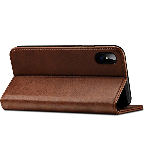 SUTENI PU Leather Folio Flip Cover