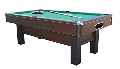Gamesson Unisex's Cambridge Pool Table-Brown/Green, 7 Ft