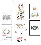 Papierschmiede® Kids Mood-Poster Set Regenbogen   Bilder