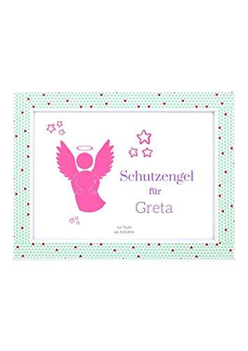 Schutzengel für Baby   Geschenk zur Geburt, Taufe oder Geburtstag   Rosa Bild für Mädchen (DIN A5)