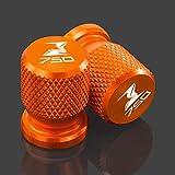 JINBINB / Adatta per Kawasaki Z750 Z750S Z750R Z 750 S/R 2004-2020 2005 Accessori per Moto Ruota Valvola per Pneumatici Valvola Stelo CNC Aerentight Covers (Color : Orange)