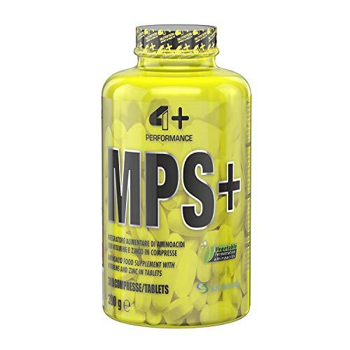 4+ NUTRITION - MPS+, Integratore Sportivo, Aminoacidi con Vitamine e Zinco, Riduzione della Stanchezza e Affaticamento, 300 cpr