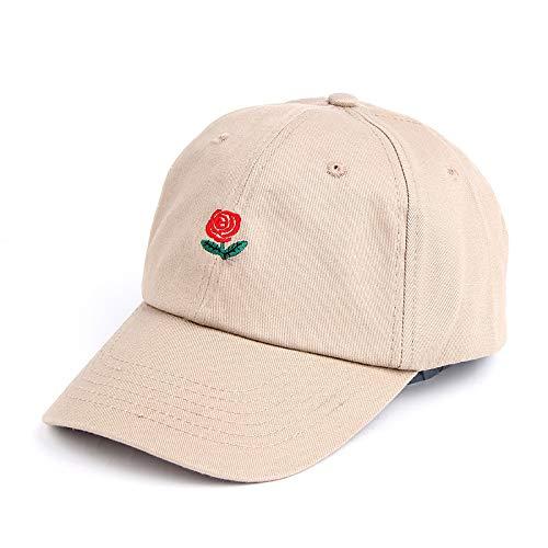 Cappello da Sole per il Tempo Libero con protezione solare Cappello ricamato Rosa 1 regolabile
