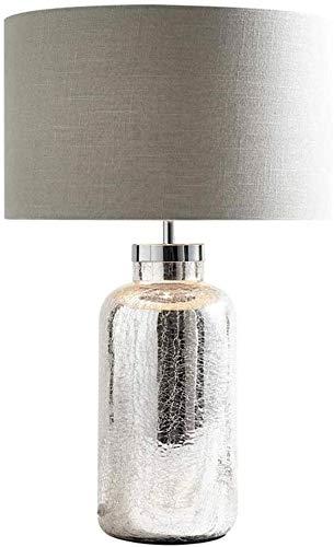 Lámparas de mesa para la lámpara de mesa de cristal, lámpara de mesa de cristal creativa moderna, sala de estar de sala de estar, lámpara de escritorio de cuidado de los ojos, lámpara de tela lámpara
