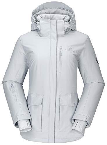 CAMEL CROWN Chaqueta de Esquí con Capucha para Mujer Chaqueta de Invierno...
