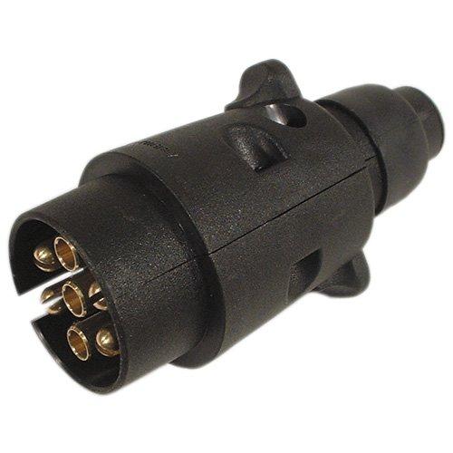 Stecker 7-polig, 12 V DIN ISO 1724 Kunststoff Anhänger