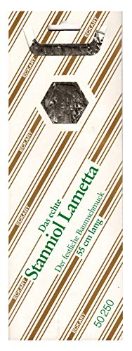 RW 1 Mappe - 65 g Inhalt (EUR 50,00/100g) Original echtes schweres Silber Stanniol Lametta Bleilametta