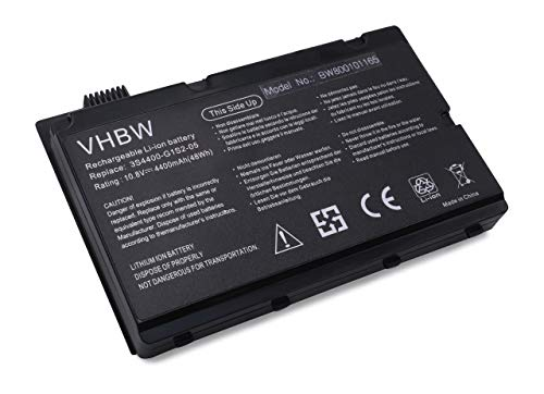vhbw Akku passend für Belinea c.Book 1700, Belinea 4700G, Gericom Supersonic P55IM Laptop Notebook (Li-Ion, 4400mAh, 10.8V, 47.52Wh, schwarz)