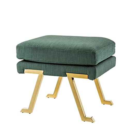 Lowest Prices! Green Stool | EICHHOLTZ Savoy | Albin Green Padded Gold Accent Stool | Modern Luxury ...