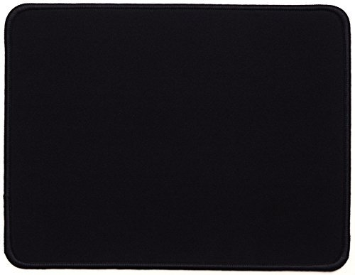 GGing Black Small Gaming Mouse Pad, Stitched Edges, Speed Silky Smooth Surface - 10.6'X8.6'X0.12'