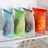 500/1000/1500 / 3000ml Silicona Sellado de la bolsa de mantenimiento de la mesa de la fruta de los alimentos Recipiente de vacío de las galletas de pan para refrigeración Herramientas de almacenamient