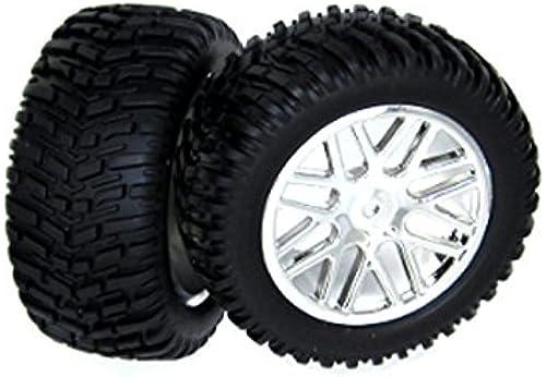 opciones a bajo precio rojocat Racing Chrome Plated Wheels and Tires (2 (2 (2 Piece)  Tienda de moda y compras online.