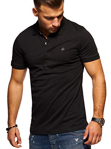 JACK & JONES Herren Poloshirt Polohemd Shirt Basic (X-Large, Black)
