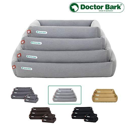 Doctor Bark hondenbed, orthopedisch, vormvast, krasbestendig premium kwaliteit grootte en kleur naar keuze, wasbaar op 95 °C in totaal, alle maten (XS-XXL) passen in een wasmachine van 5 kg, Small, lichtgrijs