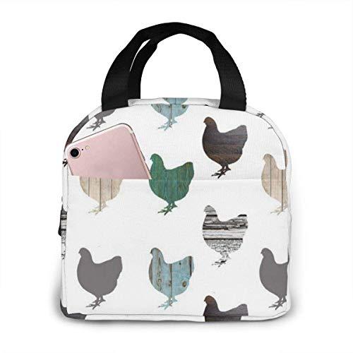 ZYWL Antcreptson - Bolsa de almuerzo portátil para pollos de madera, bolsa más fresca aislada para viajes/picnic/trabajo