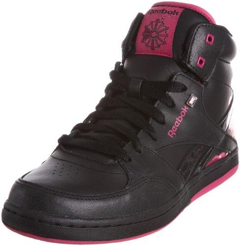Reebok - Zapatillas de Baloncesto de Cuero para niño Negro Black/Brilliant Pink/Brazen Berry/strata Orange