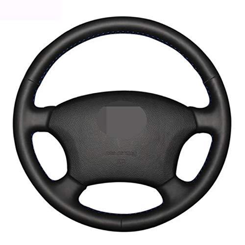 SBCX para Toyota Land Cruiser Prado 120, Cubierta de Volante de Coche de Cuero Artificial Negro