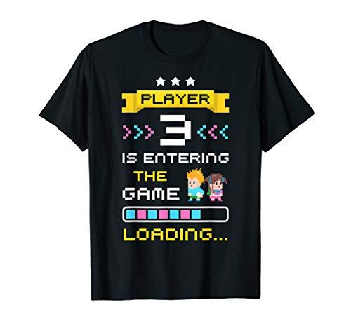 Erstes Mal Papa Mama Gamer Geschenke Baby Verkünden T-Shirt