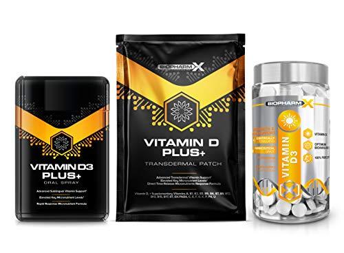 Vitamin D 4000iu + (365 High Strength Micro Tablets) + Vitamin D3 Oral Spray (20ml) + Vitamin D Transdermal Patches (x5)
