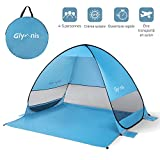Glymnis Tente de Plage Pop-up Anti UV 4 ou 5 Personnes Abri Soleil UPF 50+...