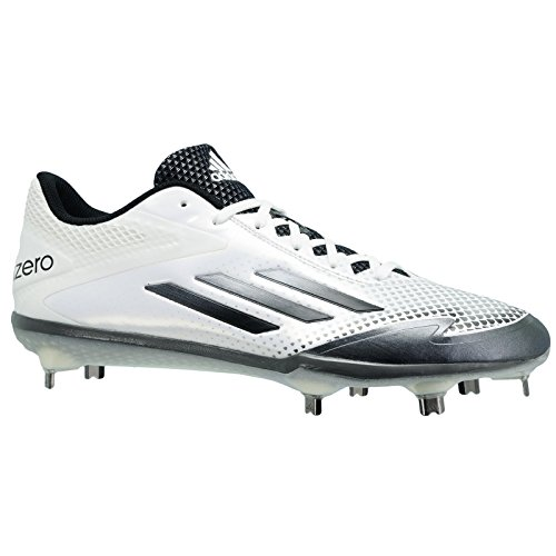 Adidas Adizero Afterburner 2.0 Mens Baseball Cleat 8.5 White-Grey Met-Carbon Met
