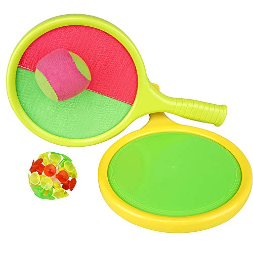 Toss and Catch Balls Game, Paddle with Handle Sticky Ball Suction Cup Sports Toys, inclusief Plush Sucker Balls, voor Kids Tennis Baseball Summer Game Sand