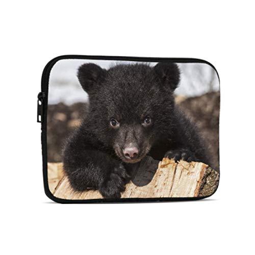 Estuche Impermeable American Black Bear Cub Escalada Jugando Fundas para computadora portátil compatibles con iPad 7.9/9.7 Pulgadas Bolsa Protectora de Tableta de Neopreno a Prueba de GOL