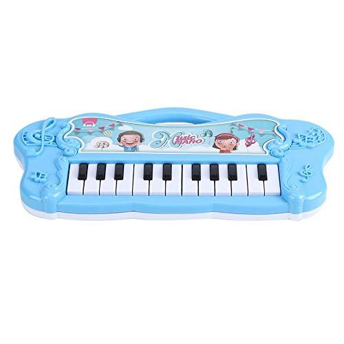 Teclado de juguete electrónico, mini piano Piano para niños y niños pequeños Piano eléctrico Instrumentos musicales Bebé Niños Educación temprana Música infantil Juguete Regalo para niña(Azul)