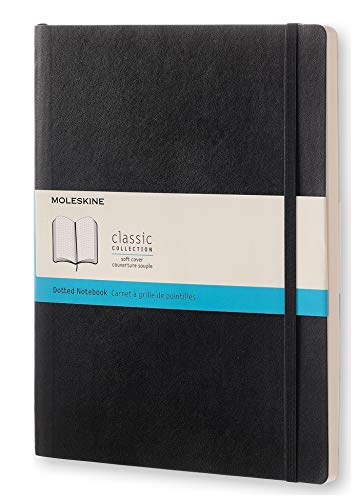 Moleskine Notizbuch, Xlarge, Punktraster, Soft Cover, Schwarz