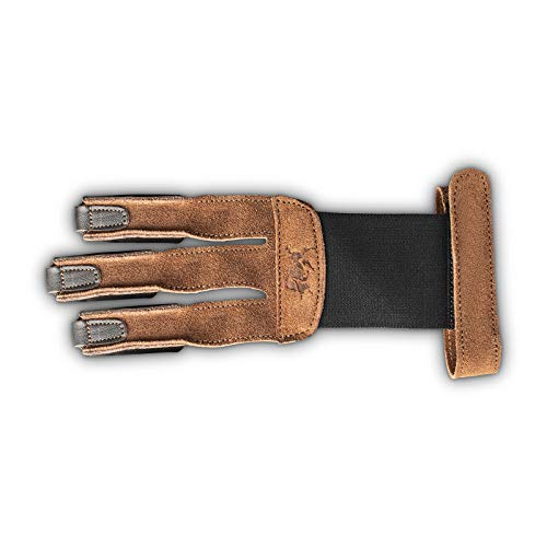 est-Hunter Traditioneller Schießhandschuh braun - Wildleder (Medium)