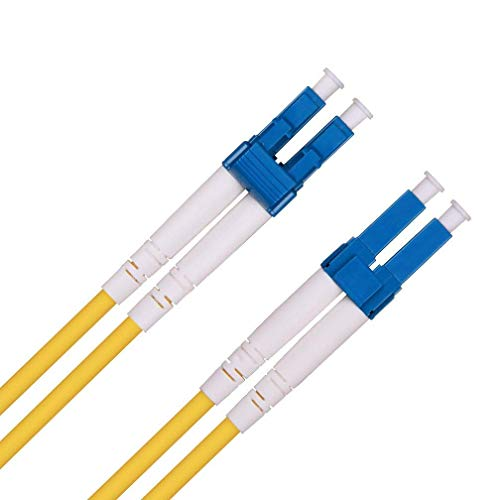 10m LWL Patchkabel LC auf LC, OS2 Leads Singlemode Duplex 9/125µ Glasfaserkabel(LSZH) für 1G SFP/10Gb SFP+ Transceiver, Medienkonverter