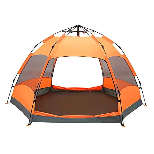 Yunyisujiao Explorer Plein air Tente entièrement Automatique de Deux Chambres à Coucher avec Une Chambre à Coucher, 5-8 Personnes, épaisse, Camping Sauvage, Camping Sauvage