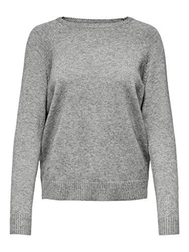 Only ONLLESLY Kings L/S Pullover KNT Noos Suéter, Medium Grey Melange, XL para Mujer