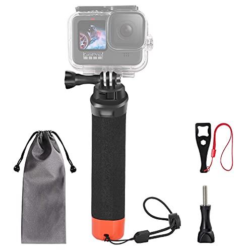 VKESEN Schwimmender Handgriff Wasserdicht Griff Rutschfester tauchen Selfie Stick Einbeinstativ Action Cam zubehör für GoPro Hero 10, 9, 8, 7, 6, 5, Max, DJI Osmo Action und Anderen Action-Kameras