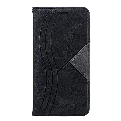 Leather Wallet Case for Huawei Mate 30 Lite/nova 5i Pro Case Pu Leather Flip Wallet Stand Case With Card Holder Slim Case Cover with Card Slots for Huawei Mate30 Lite - ZIYTB020279 Black