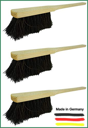 Novaliv 4X Handfeger mit langem Stiel I 60 cm I Arenga I Schneebesen Holz Schnee Feger Kehrwisch dust Brush