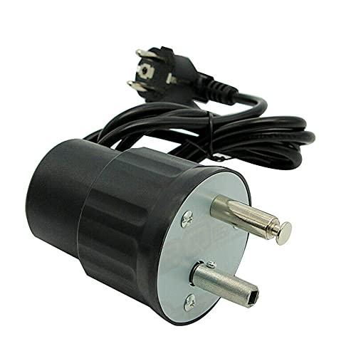 ConPush Motore GIRARROSTO Barbecue Elettrico MOTORINO Elettrico 220V per Picnic CAMINETTO Nero